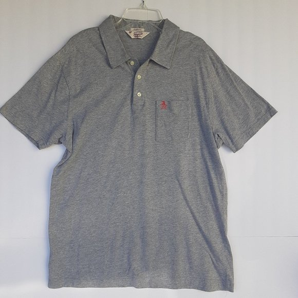 Original Penguin Other - Mens Polo Large Heather Gray Classic Fit Penguin